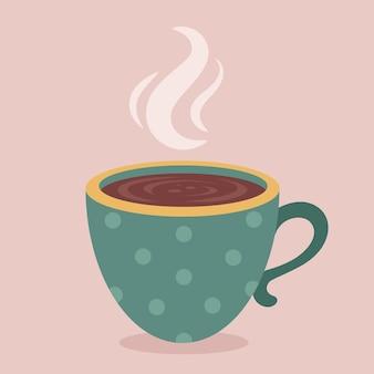 Xícara de café chocolate quente cacau bebida quente outono e inverno