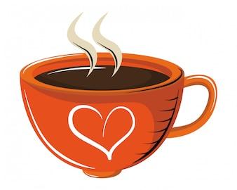 Xícara de café com aroma