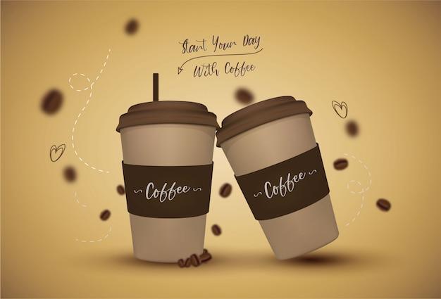 Xícara de café com citação