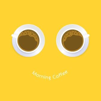 Xícara de café. design plano. banners, posters, cartões