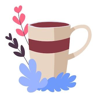 Xícara de café em bebida saborosa de café ou restaurante