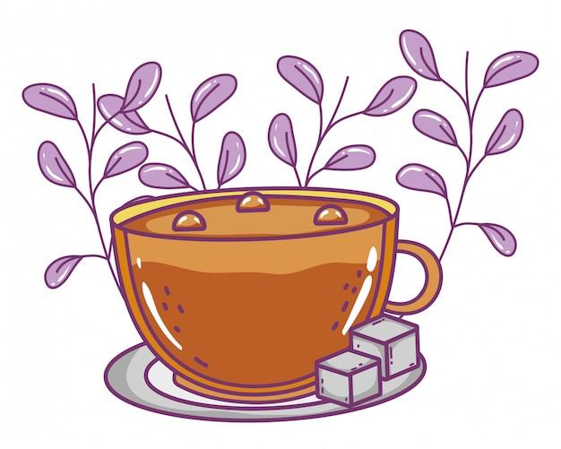 Xícara de café isolado