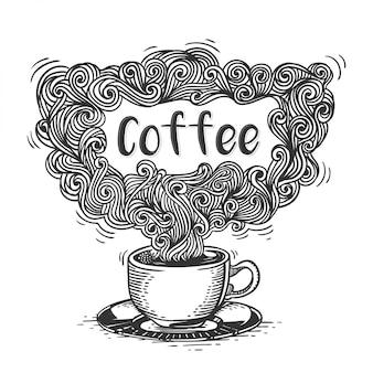 Xícara de ilustração de café