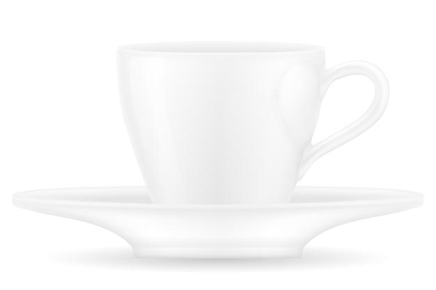 Xícara para café e chá em branco