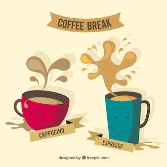 Xícaras de café agradáveis