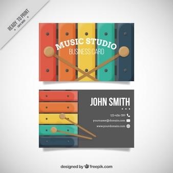 Xilofone cartão de estúdio de música