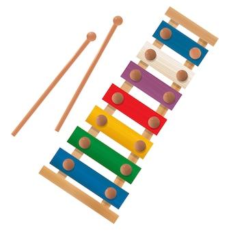 Xilofone de madeira