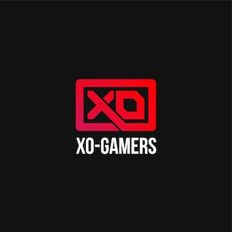 Xo abstract logo esports