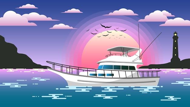 Yacht sunset cruise