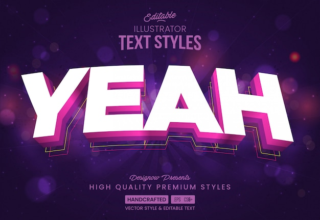Yeah party text style