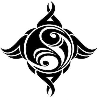 Ying yang símbolo chinês vetor