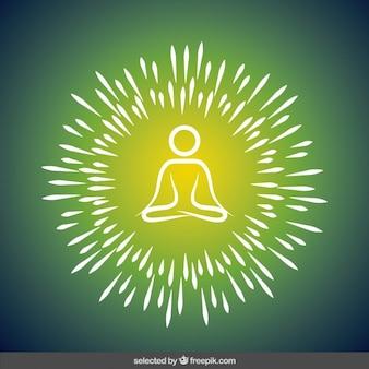 Yoga ilustração abstrata