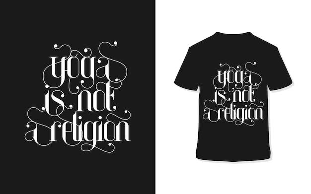 Yoga não é um design de t-shirt de tipografia de religião