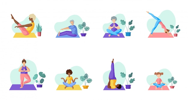Yoga pessoas diferentes