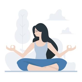 Yoga realizado pose