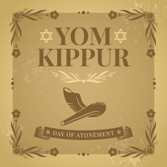 Yom kippur vintage com chifre
