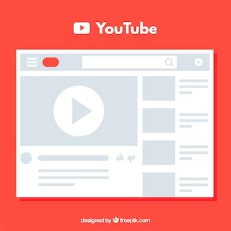 Youtube player com design plano