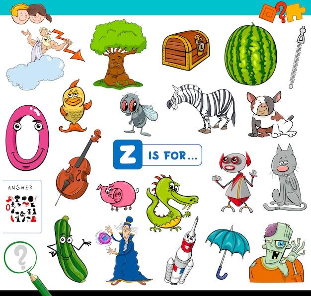 Z é para jogo educativo para crianças