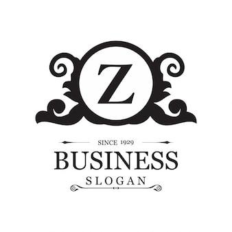Z floral logotipo da loja de jóias