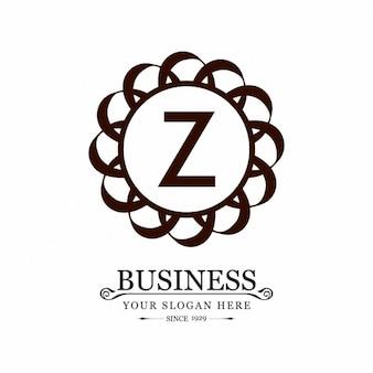 Z logotipo criativo círculo