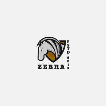Zebra de logotipo de ícone
