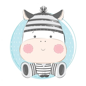 Zebra do bebê no padrão de cadeia