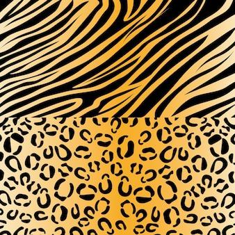 Zebra e leopardo padrão de impressão animal