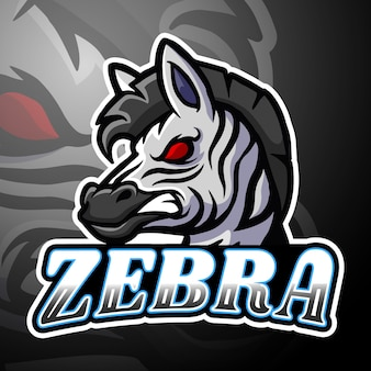 Zebra esport logotipo mascote design