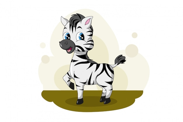 Zebra fofa e divertida