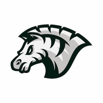 Zebra - logotipo vetorial / ilustração do ícone mascote