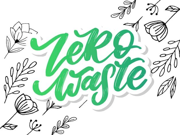 Zero waste texto manuscrito