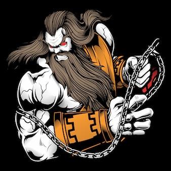 Zeus de ilustração vetorial