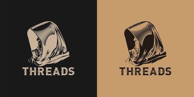 Zeus, designs de logotipo de homem misterioso