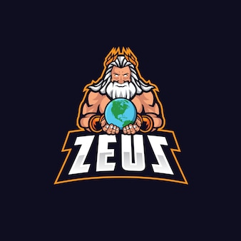 Zeus e esporte logo vector