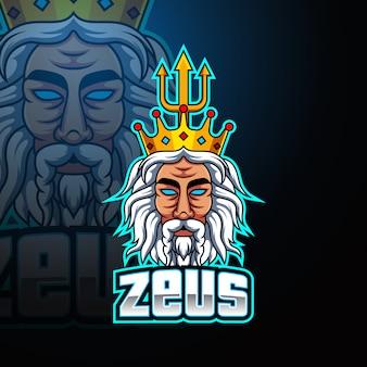 Zeus esport mascote logotipo