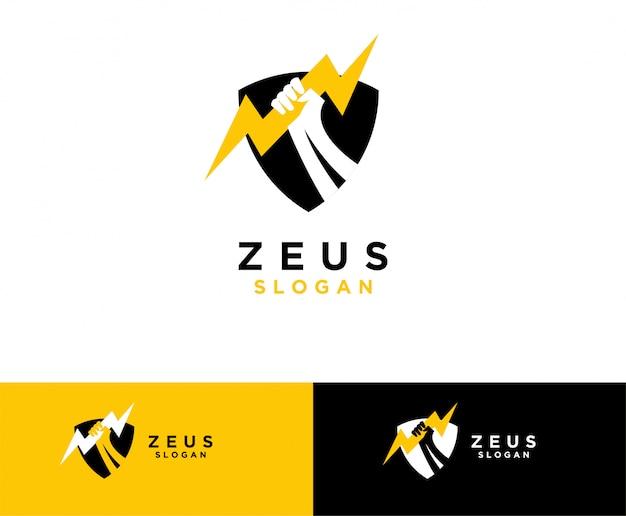 Zeus mão símbolo design de logotipo