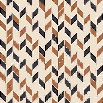 Ziguezague aleatório de padrão retro sem costura