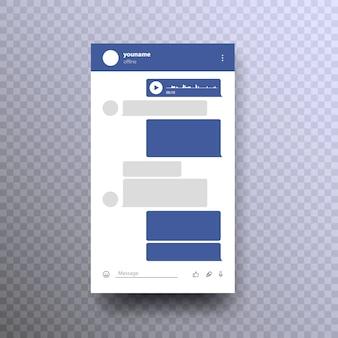 Zombar do messenger. rede social modelo