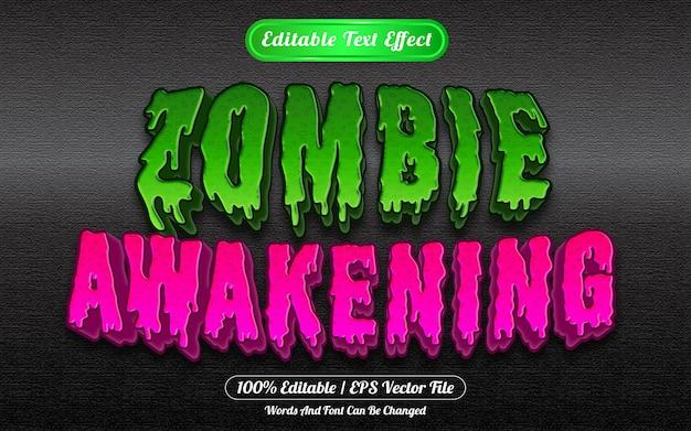 Zombie awakening estilo de modelo de efeito de texto editável