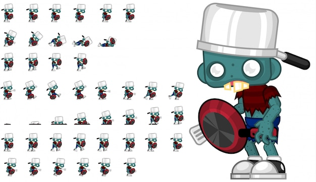 Zombie com pan game sprite