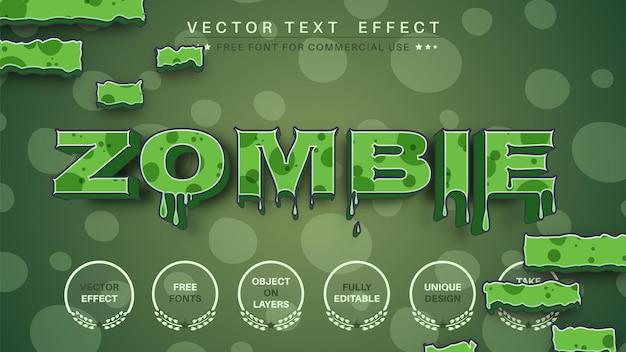 Zombie de sangue editar estilo de fonte editável de efeito de texto