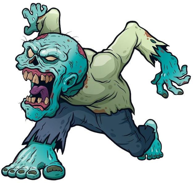 Zombie dos desenhos animados