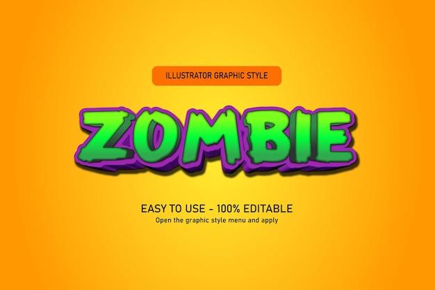Zombie halloween text effect