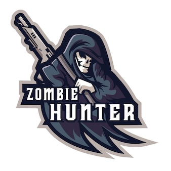 Zombie hunter e sports logo