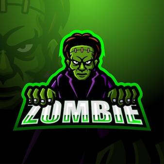 Zombie mascote esport ilustração
