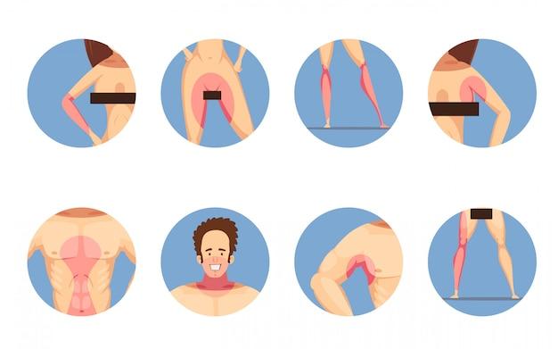 Zonas de depilação depilação para homens e mulheres