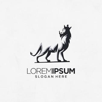 Zoológico de áfrica rei leão logotipo