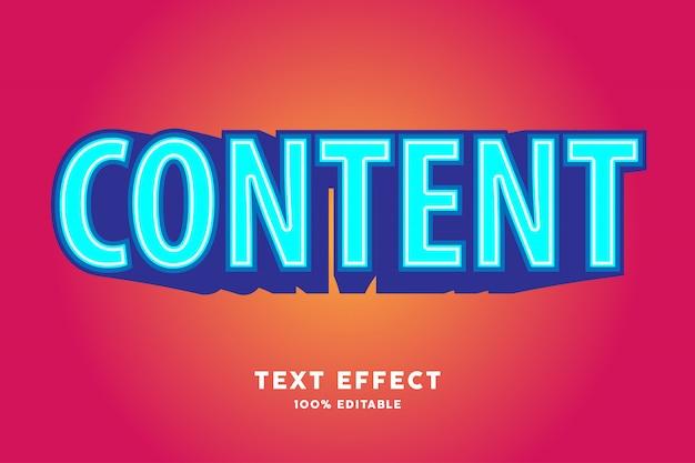 Zoom azul no efeito de texto vermelho
