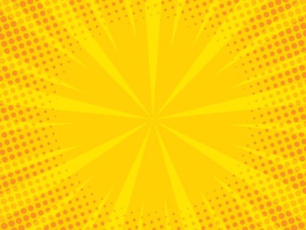 Zoom cômico com pontos de meio-tom Vetor Premium