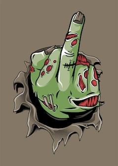 Zumbi da mão do meio